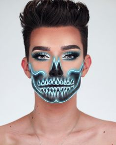 "9,469 Likes, 163 Comments - James Charles (@jamescharles) on Instagram: ""NEON SKULL Tutorial is now LIVE! SURPRISE! My first official Halloween slay of 2017… how do we…"""