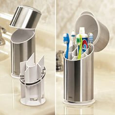 Hate germs!? me too, cover up your toothbrushes - your toilet creates micro-splatters all over your bathroom -ICK! $34.98
