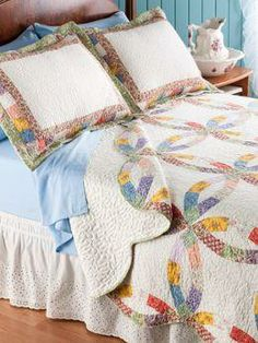 Wedding Ring Quilt with Patchwork | Vermont Country Store