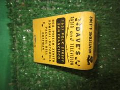 DAVE'S RADIO AND TELEVISION TRY BEFORE YOU BUY MATCHBOOK 1651 POLK ST SAN FRANCISCO RCA-PHILCO-ZENITH- GRAYSTONE 4-1362