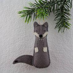 Felt Wolf Ornament PATTERN Sewing Pattern Felt Wolf
