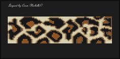 Leopard Cuff  Bead Loomed Pattern  INSTANT by CaronMichelleDesigns, $5.00