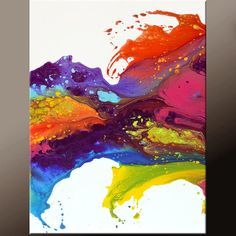Thank you for your interest in my art. This is an original abstract contemporary canvas art painting by world collected artist Destiny Womack aka dWo