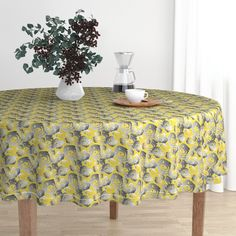 Nature's way hex on Malay by diseniaz Round Tablecloth, Cloth Napkins, Tea Towels, Custom Fabric, Spoonflower, Elegant, Wallpaper, Furniture, Design