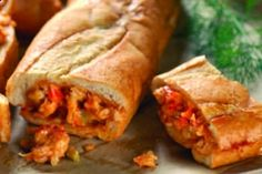 Cajun Crawfish Bread Recipe: A great Cajun recipe using crawfish tails, French style bread, butter, Cajun vegetables and more.