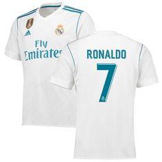 Ronaldo Real Madrid adidas 2017/18 Home Replica Patch Jersey - White