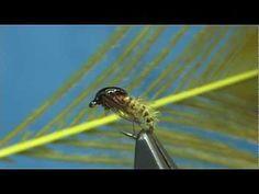 ▶ Tying a Pheasant Tail Caddis Pupa by Davie McPhail. - YouTube