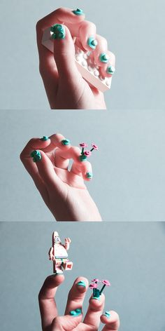 I can't believe that this is real! Lego nail art... who'd have thought it!