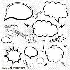 Bolhas de quadrinhos simples definir                                                                                                                                                                                 Mais