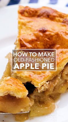 Brunch Ideas Discover Homemade Apple Pie The Best Homemade Apple Pie! With a flaky buttery crust and an apple pie filling with sliced apples sugar spices and vanilla. Apple Pie Recipe Easy, Best Apple Pie, Easy Pie Recipes, Homemade Apple Pies, Apple Pie Recipes, Simply Recipes, Apple Desserts, Baking Recipes, Dessert Recipes
