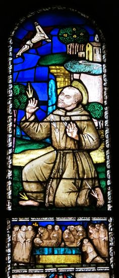 san Francesco d 'Assisi--stained glass