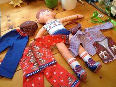 Clothkits rag doll and clothing...