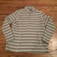 REI Stripe Pullover Perfect condition! Woman's XL. Longer in length. NO TRADES REI Jackets & Coats