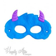 Horned Monster Mask ITH Embroidery Design