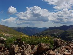 From the summit of Mt. Sniktau at Loveland Pass.
