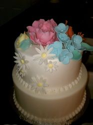 flowers Wedding Cakes, Desserts, Flowers, Food, Wedding Gown Cakes, Tailgate Desserts, Deserts, Wedding Cake, Florals