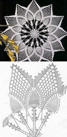 63 Best Ideas for crochet table runner free pattern pineapple Crochet Dollies, Crochet Doily Patterns, Crochet Mandala, Crochet Chart, Thread Crochet, Filet Crochet, Irish Crochet, Crochet Motif, Crochet Designs