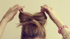 coque com laço de cabelo