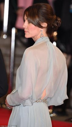With a host of Bond Girls to compete with, the Duchess of Cambridge turned on the glitz at the world premiere of the new 007 film Spectre tonight