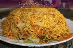 Fresh chow mein at home is delicious and easy. Well, technically this is Lo Mein, but most people will consider it Chow Mein. I make this all the time for my family, and sometimes (like today), it's what we are eating for lunch. This recipe is made without meat, so it can go easily with any other stir fry dishes.