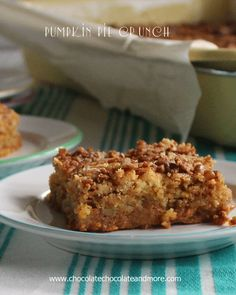"Pumpkin Pie Crunch-""I don't make much with pumpkin, but when I do-It's Awesome!"". Ingredients: pumpkin, evaporated milk, eggs, sugar, pumpkin pie spice, salt, yellow cake mix, butter, pecans"