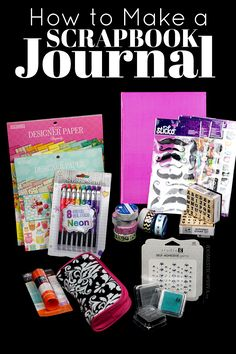 How to Make a Scrapbook Journal: DIY Smashbook supplies from Walmart Scrapbook Journal, Travel Scrapbook, Diy Scrapbook, Scrapbook Supplies, Junk Journal, Scrapbooking Ideas, How To Make Scrapbook, Smash Book, Hobbies And Crafts