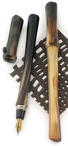 Taccia Savanna Bison Horn Fountain Pen