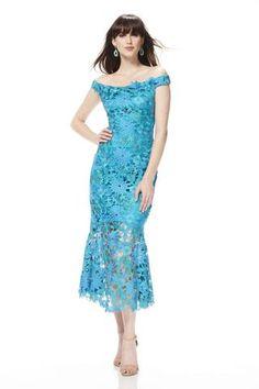 Off the shoulder multi color floral mermaid dress - #883174 -