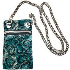 Mini Bag estampado serpiente terciopelo azul Blue Bags, Mini Bag, Madrid, Snake, Shoulder Bag, Wallet, Chain, Fashion, Blue Velvet
