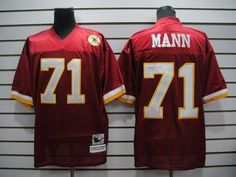 7f17287a8b0d9 Mitchell and Ness Washington Redskins 71 Charles Mann Red Stitched  Throwback NFL Jersey  22.99 White Reebok