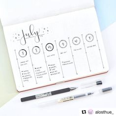 "How many times have I said that ""this time I am going minimal""? I never do though... However if you like minimal layouts an account you should follow is that of @alosthue_ ! So inspiring!  #Repost @alosthue_ (@get_repost)  This week's spread! I used the daily circles from last week the same way since I loved them so much. So every time I finished a task I would fill in a segment of the circle. Filling in a full circle is just so satisfying  . . . . . . #bujo #bulletjournal #bujojunkies…"