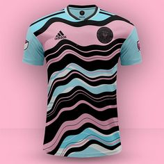 jersey pink and blue Sport Shirt Design, Sports Jersey Design, Sport T Shirt, Soccer Uniforms, Football Shirts, Adidas Kit, Football Shirt Designs, Jersey Outfit, Team Wear
