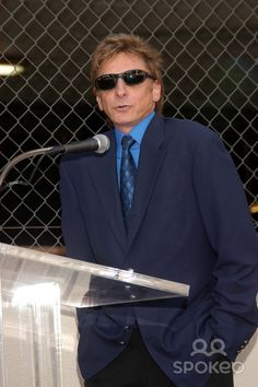 Barry Manilow at Suzanne Somers Hollywood Walk of Fame ceremony.