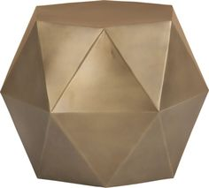 loving this faceted side table - yes please!