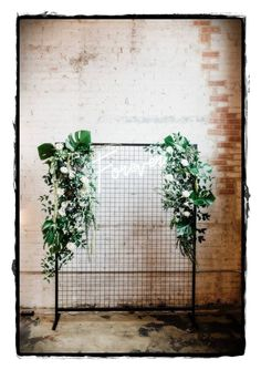 Neon sign backdrop Design + Styling: Photographer: Venue, Table, Chairs: Floral: ing wedding backdrop Modern Botanical Wedding Inspiration by Alexa Kay Events Hipster Wedding, Floral Backdrop, Flower Wall Backdrop, Diy Backdrop, Ceremony Backdrop, Backdrop Wedding, Diy Décoration, Wedding Signage, Wedding Reception