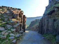 The Giant's Causeway, Co. Antrim. Many, many beautiful pictures that I looked at with my hand on my heart...
