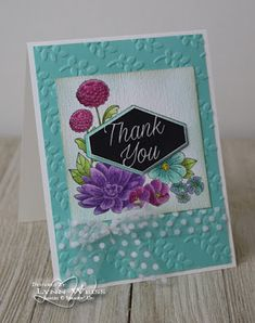 LW Designs: Accented Blooms Thank You