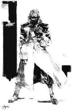Liquid Black & White, Metal Gear Solid 1