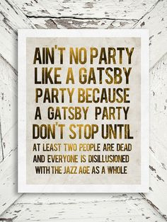 The Great Gatsby Print - A Gatsby Party - Jay Gatsby, Gold And White, F.Scott Fitzgerald, For Him - 8x10 Print