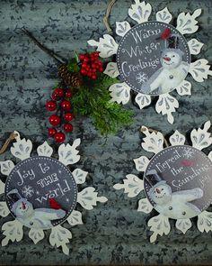 Metal Snowflake Christmas Ornaments