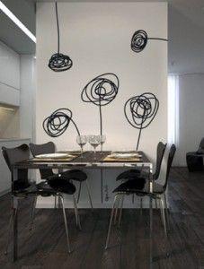 Decoración de cocinas con vinilo - flores