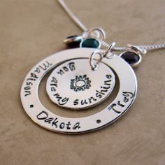 You Are My Sunshine Loop ... with my kiddos' names & birthstones... Corey, Melissa, Casey & Taylor (Apr, Feb, Apr, Aug)   :D