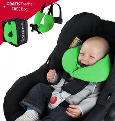 SANDINI SleepFix© XS - bebés almohada de seguridad (coche/bicicleta) - NUEVO AJUSTE - Set completo en muchos colores - Incluye bolsa