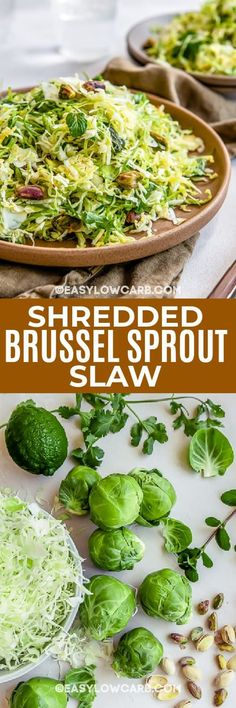 Brussel Sprout Slaw, Shredded Brussel Sprouts, Simply Shredded, Cherry Tomato Salad, Zucchini Pasta, Slaw Recipes, Feta Salad, Easy Snacks, Fresh Herbs
