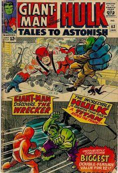 "Tales to Astonish Art: Jack Kirby, ""Hulk bump head! Hulk Marvel, Hulk Comic, Comic Book Superheroes, Marvel Comic Books, Marvel Dc Comics, Marvel Heroes, Comic Books Art, Avengers, Comic Art"