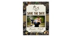 Photo Country Rustic Deer Camo Save The Date Cards Country Wedding Save the Date Invitations.