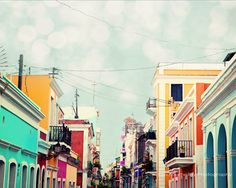 Old San Juan Colorful Buildings  Fine Art by kimfearheiley on Etsy, $15.00