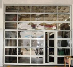 Glass Garage Doors/ for kid playroom & outdoors...closed in winter, open in summer.