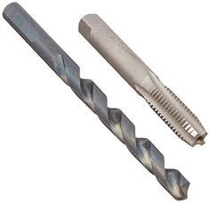 buy now   									£9.59 									  									High carbon steel tap and drill bit Combo sets are ideal for drilling the proper hole size and cutting internal threads.; Recommended drill size is permanently marked  ...Read More