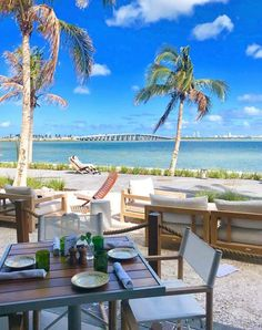 8 Romantic Miami Restaurants Amara at Paraiso Miami Restaurants, Romantic Restaurants, Seven Restaurant, Grilled Oysters, Beach Cafe, Outdoor Furniture Sets, Outdoor Decor, Florida Travel, Most Romantic